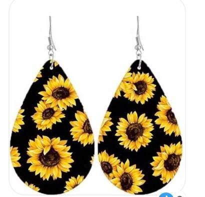 Double-sided Sunflower Earrings