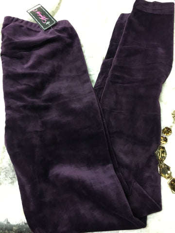 Leggings_Ive got a Crush on You in Plum - Pretty Please on Broad