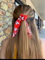 Girls Ladies College High School Kids Ponytail Pony tail scarf scrunchie floral print hair accessories_Pretty Please on Broad boutique online Altavista Forest Lynchburg Smith Mountain Lake VA NOLA