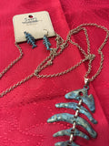Nautical patina fish necklace set_Pretty Please on Broad Boutique