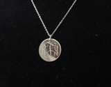 Silver Engraved Monogram Necklace - Pretty Please on Broad