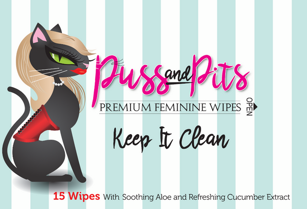 Puss and Pits Hypoallergenic Body Wipes - Pretty Please on Broad