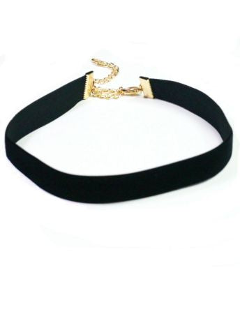 Luxurious Velvet Choker - Black - Pretty Please on Broad