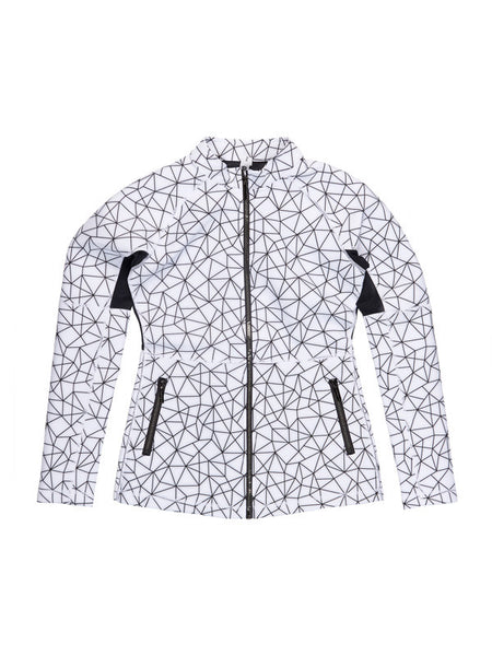 Shatter Glass White Clara Jacket - KarmaLuxe