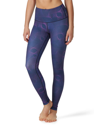Printed Kata Tight II - Sprio Navy - Karma Athletics