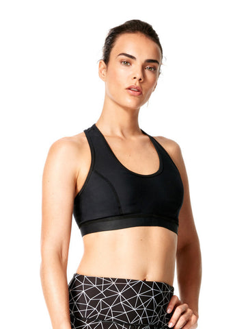 Black Laila Bra - Karma Athletics Active - front