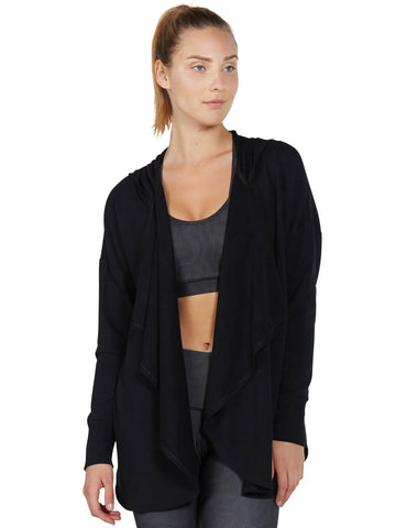 Maya Cardigan - Black Sweater - Karma Athletics