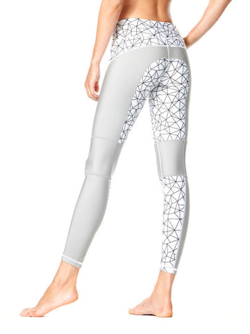 Shatter Glass White Printed Allyson Tight - Karma Athletics Active - back