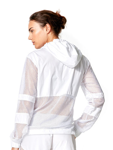 White Roxie Jacket - Karma Athletics Apres Workout - back