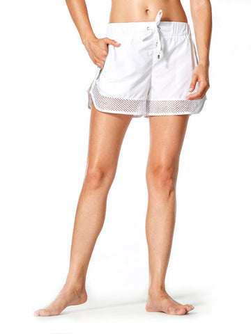 White Ricki Short - Karma Athletics Active - front