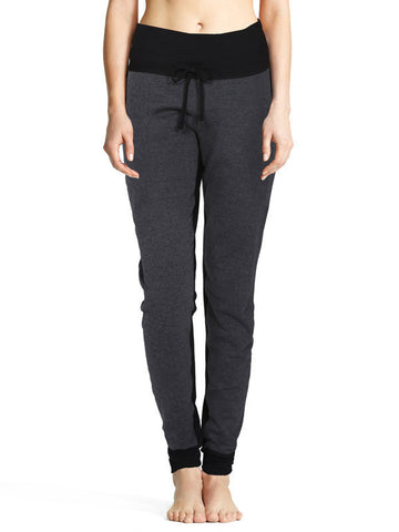 Heather Charcoal Emelie Pant - Karma Athletics Apres Workout - front