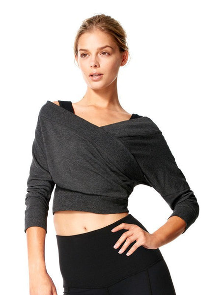 Heather Charcoal Margot Cover Up - Karma Athletics Kore