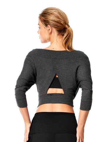 Heather Charcoal Margot Cover Up - Karma Athletics Kore - back