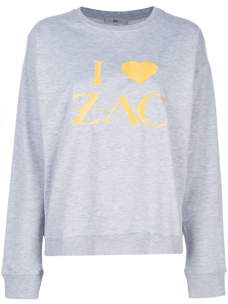 I Love Zac Embroidered Sweatshirt