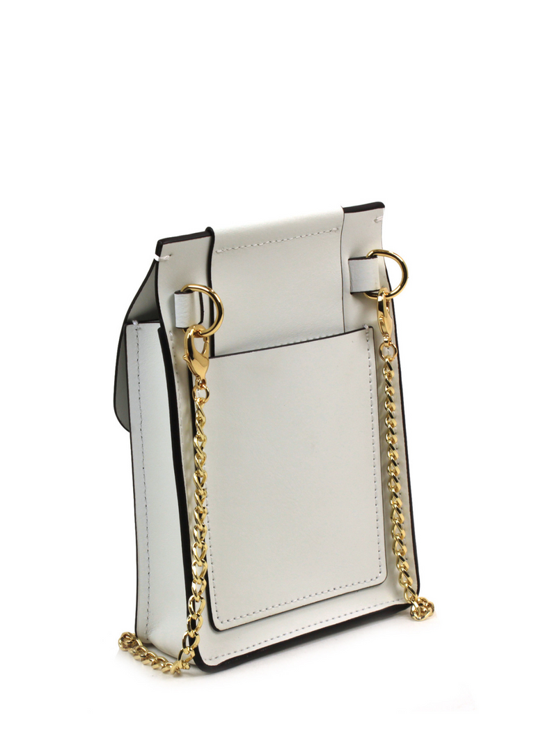 Biba Buckle Phone Chain Crossbody- Solid