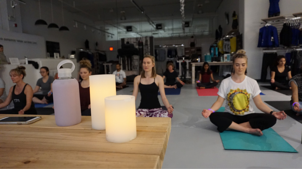 Kundalini Yoga post-up group with Karma Athletics