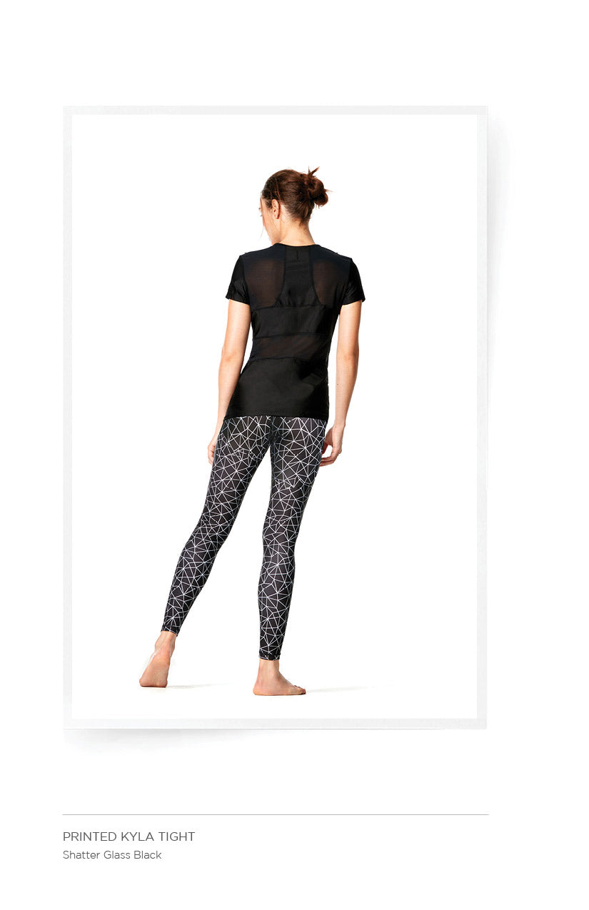 Printed Kyla Tight - Shatter Glass Black