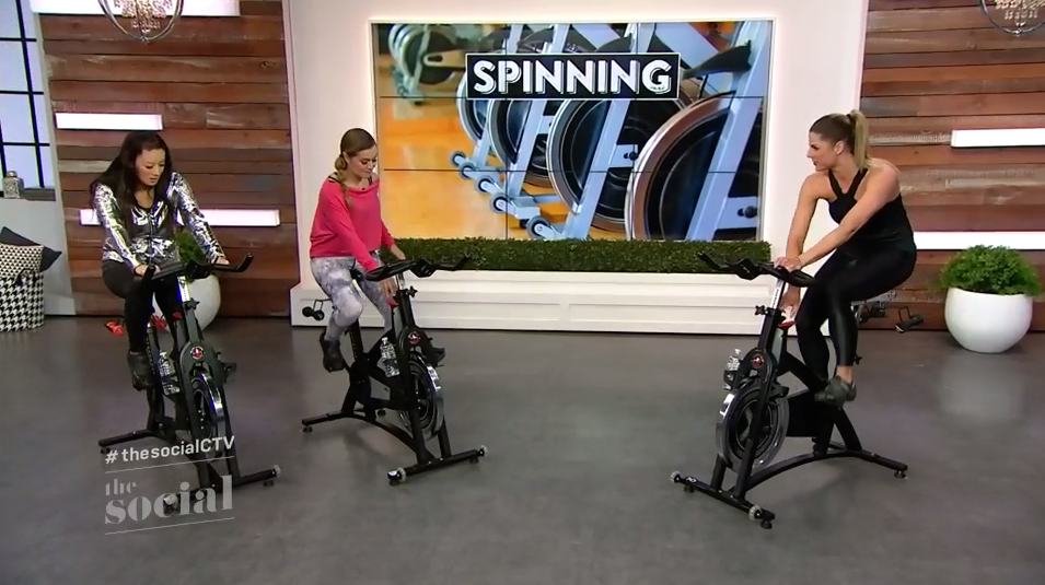 Spinning class on CTV's The Social with Melissa Capan