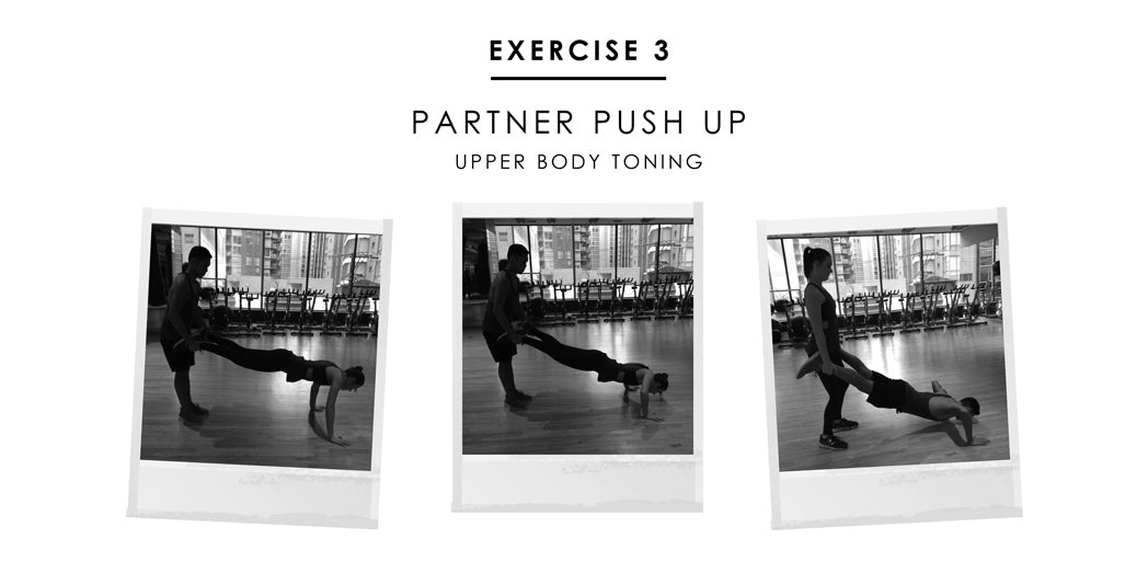 Partner exercise 3 - Partner Push Up: upper body toning