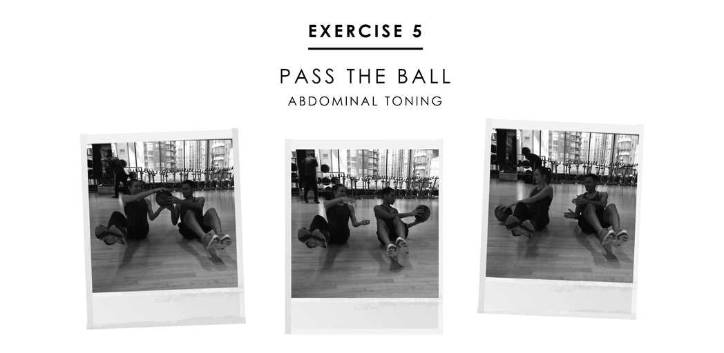 Partner exercise 5 - Pass The Ball: abdominal toning