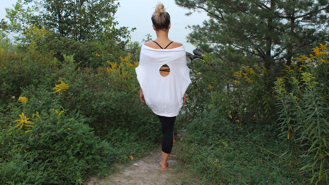 Ethical Fashion Made in Canada: Franca Pullover & Taylor Crop by Karma Athletics