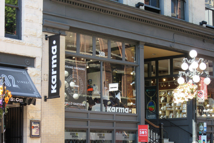 Karma Athletics Canada Vancouver Gastown Shopping Women's Clothing Store