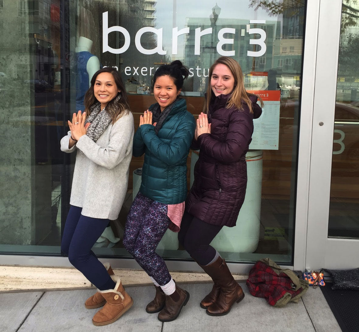 Jacklyn & friends in front of Barre3