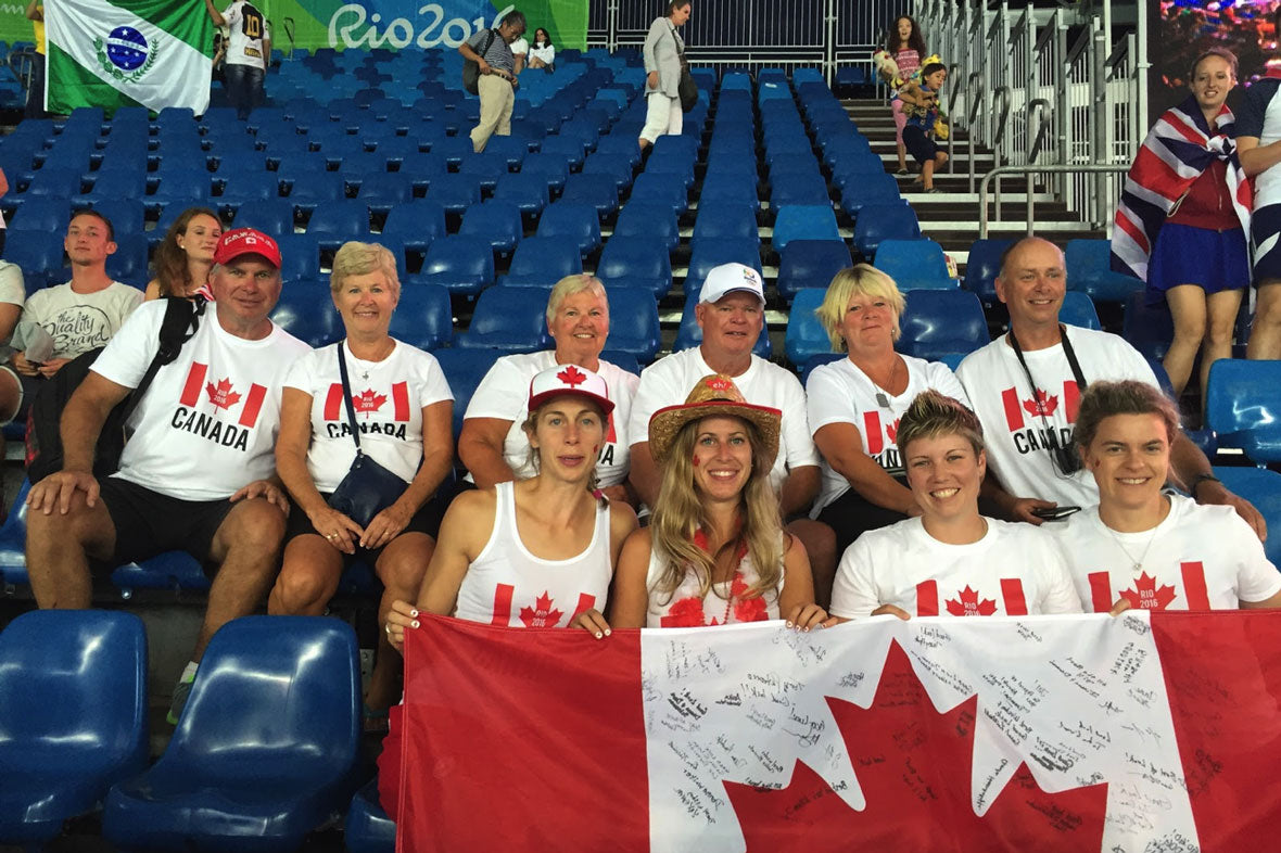 Cheering for Canada at a Rio Olympic game