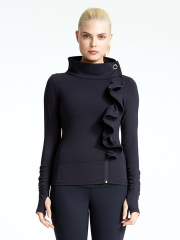 Karma Kore Signature San Suu Jacket in Black fashion for active women everywhere