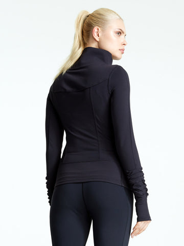 Yoga Stretch fitted San Suu Jacket perfect post practice outerwear to go everywhere