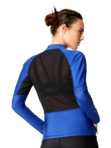 Surge Blue Clara Jacket - Karma Athletics Active - back