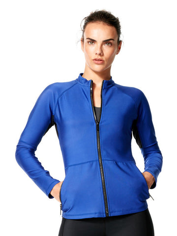 Surge Blue Clara Jacket - Karma Athletics Active - front
