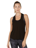 Colette Tank II - Black loose tank top cover up