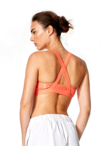 Vivid Coral Daniela Bra - Karma Athletics Active - back