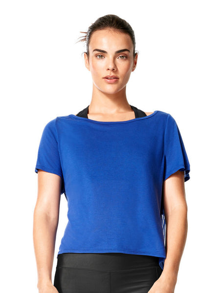 Surge Blue Kara Tee - Karma Athletics Apres Workout - front