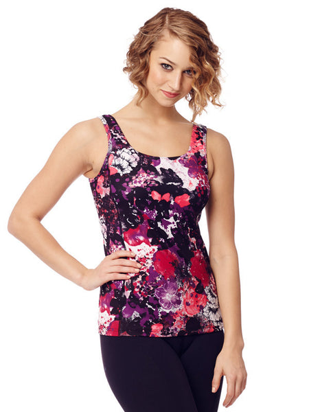Floral Mix Printed Evelyn Tank - Karma Athletics - front