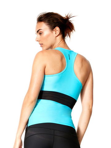 Flash Turquoise Kelli Tank - Karma Athletics Active - back