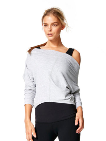 Ice Grey Lynden Pullover - Karma Athletics Kore - front