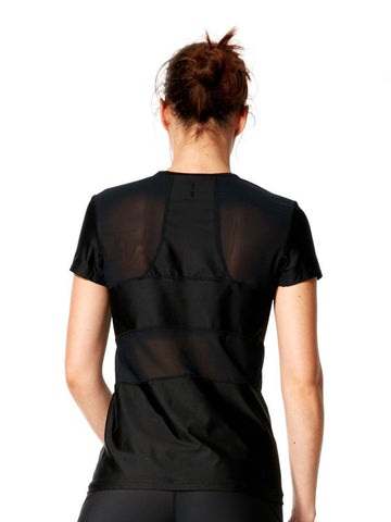 Black Malia Tee - Karma Athletics Active - back
