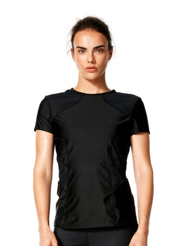 Black Malia Tee - Karma Athletics Active - front