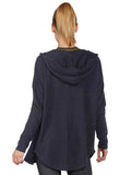 Maya Cardigan - Heather Charcoal back