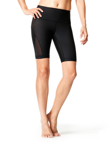 Black Mercedes Short - Karma Athletics Active - front