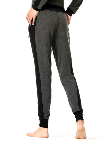Heather Charcoal Mix Miesha Pants - Karma Athletics Apres Workout - back