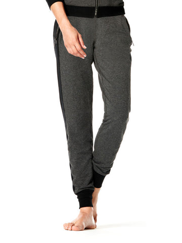 Heather Charcoal Mix - Miesha Pant - Karma Athletics Apres Workout - front