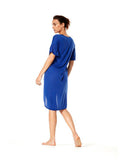 Surge Blue Simona Dress - Karma Athletics Apres Workout - back