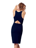 Navy Sirimavo Dress - Karma Athletics - back