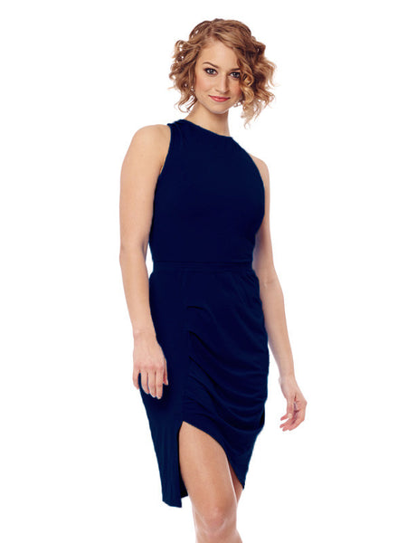 Navy Sirimavo Dress - Karma Athletics - front