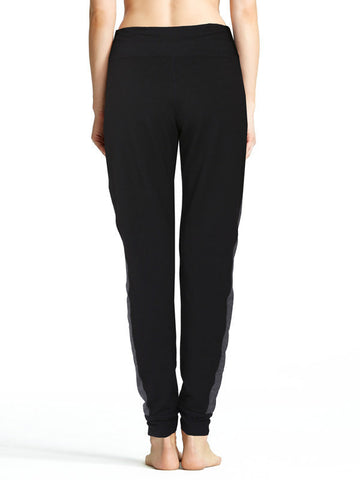 Heather Charcoal Emelie Pant - Karma Athletics Apres Workout - back