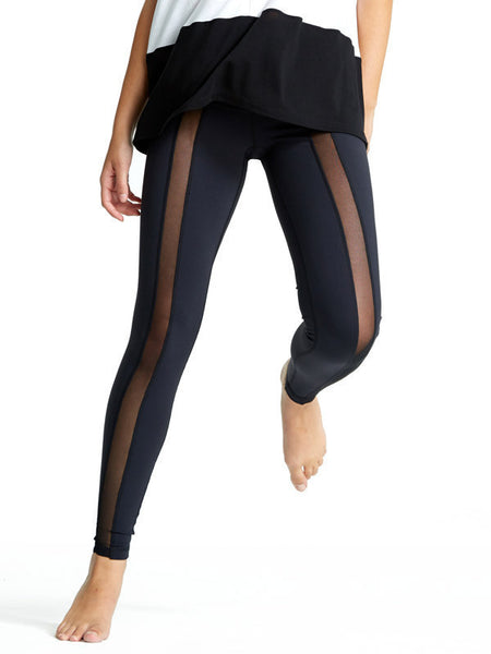 Black Golda Tight - Karma Athletics - front