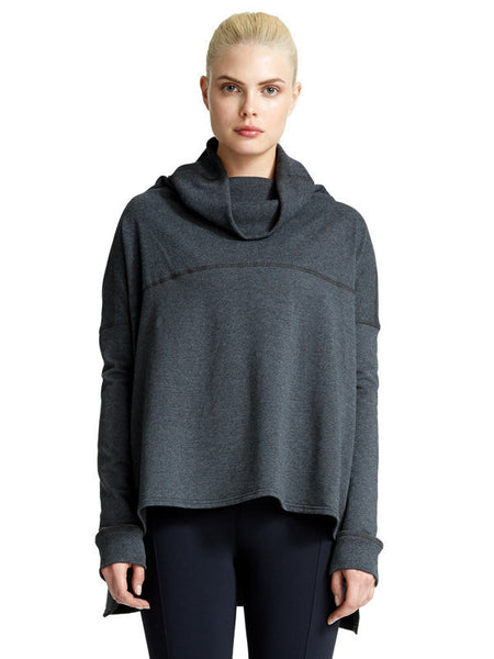 Heather Charcoal Kay Pullover - Karma Athletics Apres Workout - front